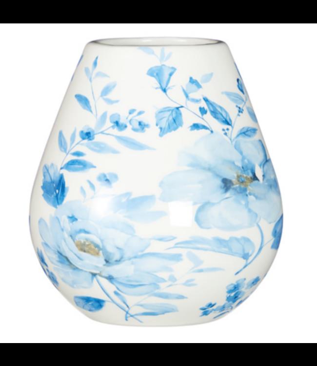 "RAZ Imports 6.5"" Watercolor Floral Vase"
