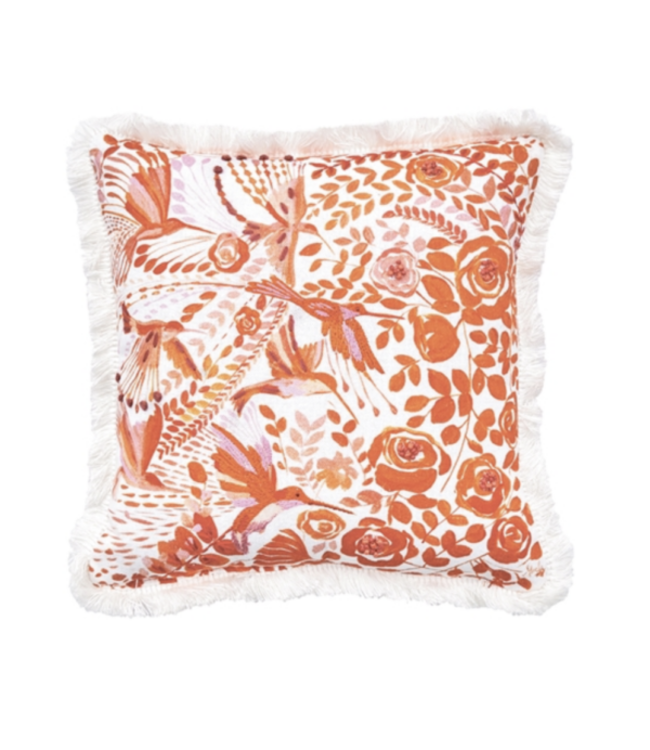 C&F Home Hummingbird Floral Pillow