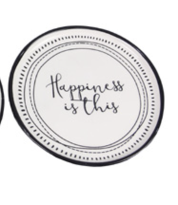 Youngs Ceramic Trinket Dish- Happiness is This