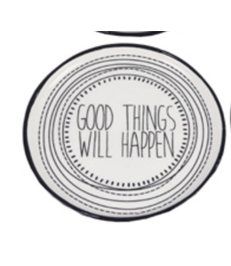 Youngs Ceramic Trinket Dish- Good Things Will Happen