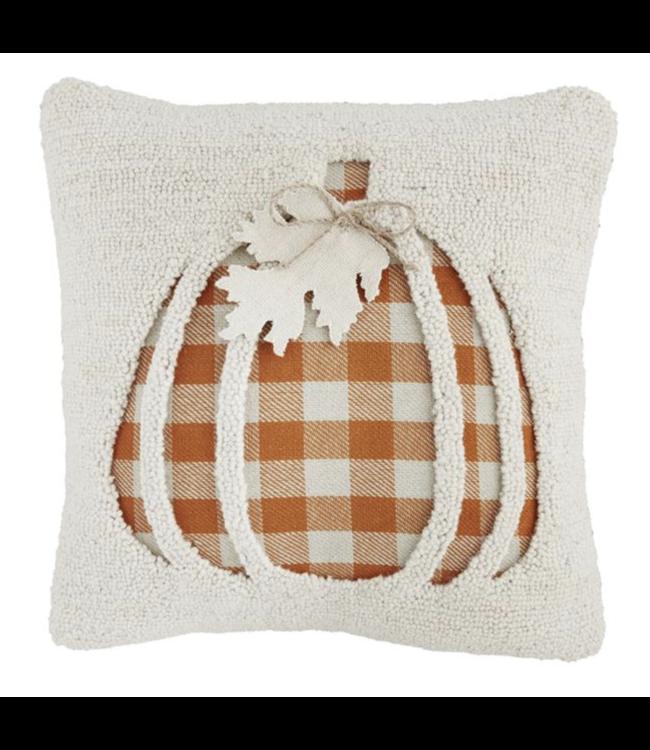 MudPie Recessed Pumpkin Hook Pillow