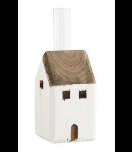 MudPie Small House Bud Vase