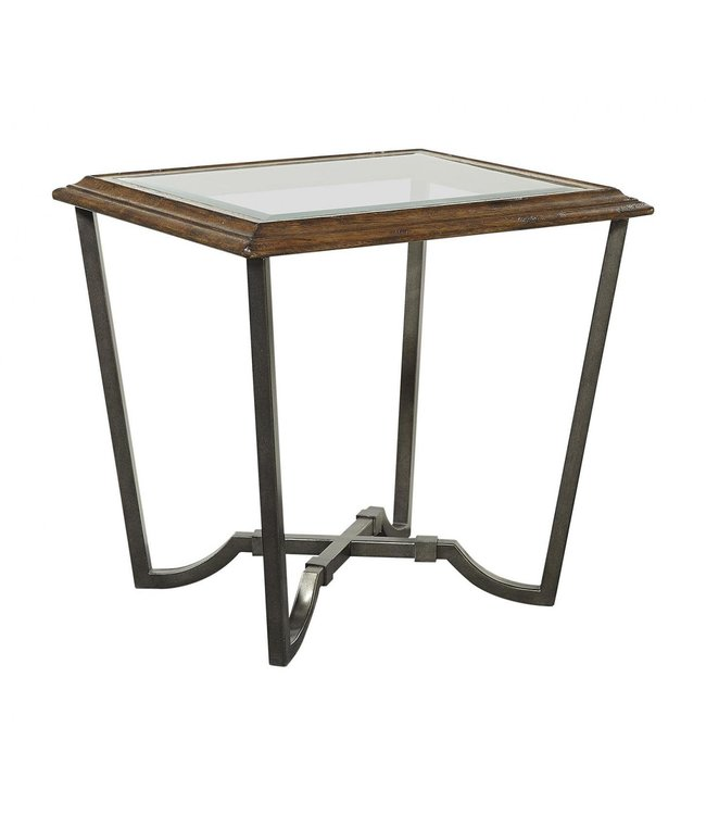 Aspen Home Mosaic End Table W/Glass Top