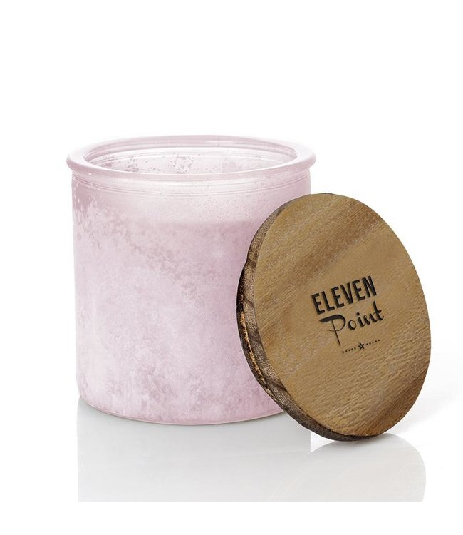 Eleven Point Campfire Coffee River Rock Candle