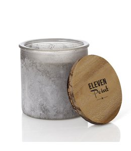 Eleven Point Tipsy River Rock Candle
