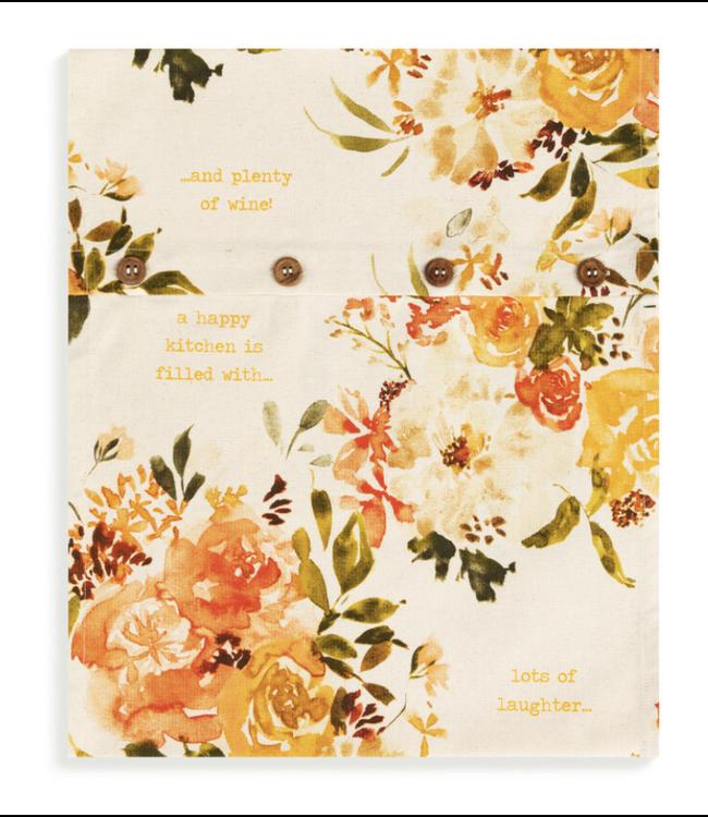Demdaco Cottage Rose Infinity Loop Towel