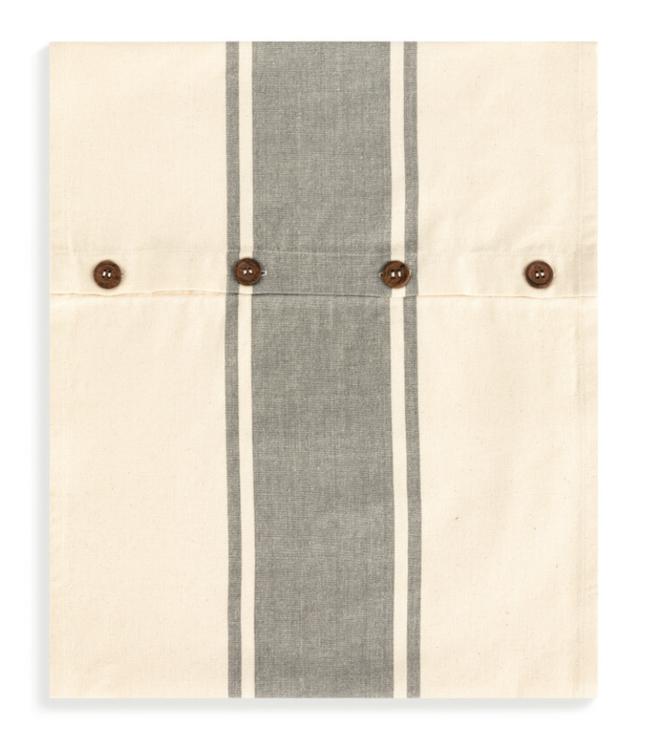 Demdaco Gray Stripe Infinity Loop Towel