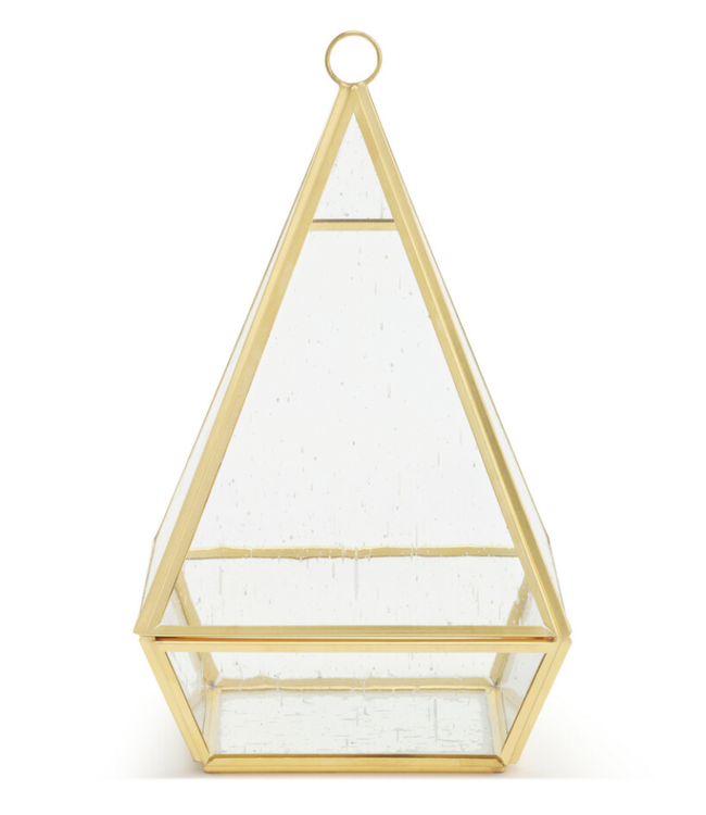 Demdaco Conservatory Frosted Brass Hanging Decor