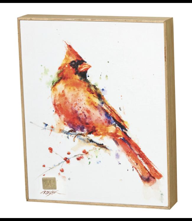 Demdaco Redhead Cardinal Wall Art 8x10