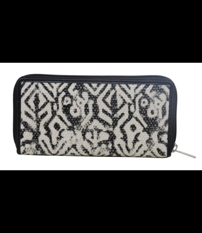 Myra Bag Black and White Futuristic Wallet