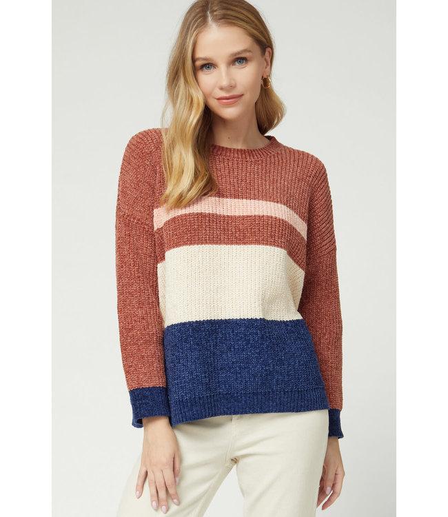 Entro Color Block Chanelle Sweater