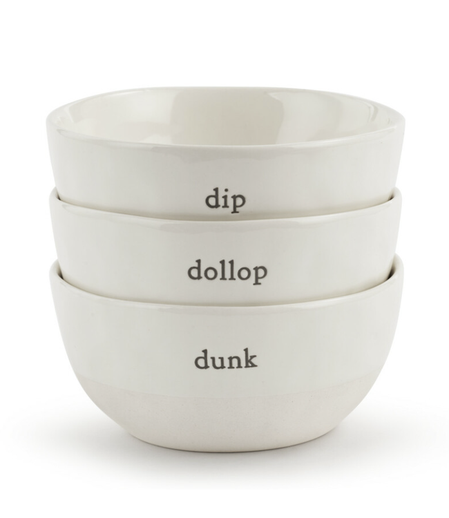 Demdaco Dollop Dipping Bowls - Set of 3