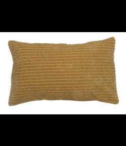 Bloomingville Cotton Wide Wale Corduroy Lumbar Pillow, Mustard Color