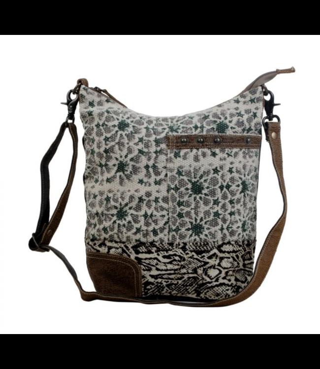 Myra Bag Unconventionally Etched Shoulder Bag