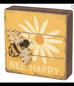Primitives By Kathy Slat String Art - Bee Happy