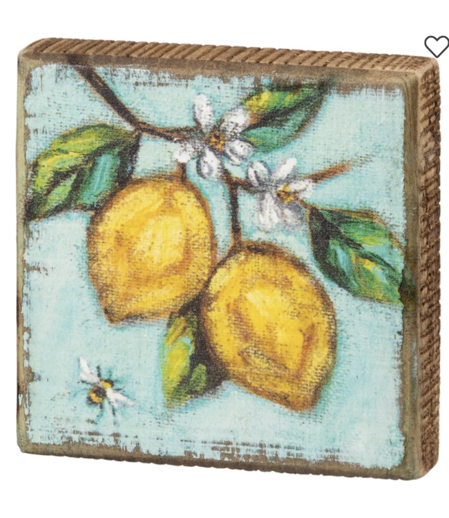 Primitives By Kathy Block Sign - Lemons