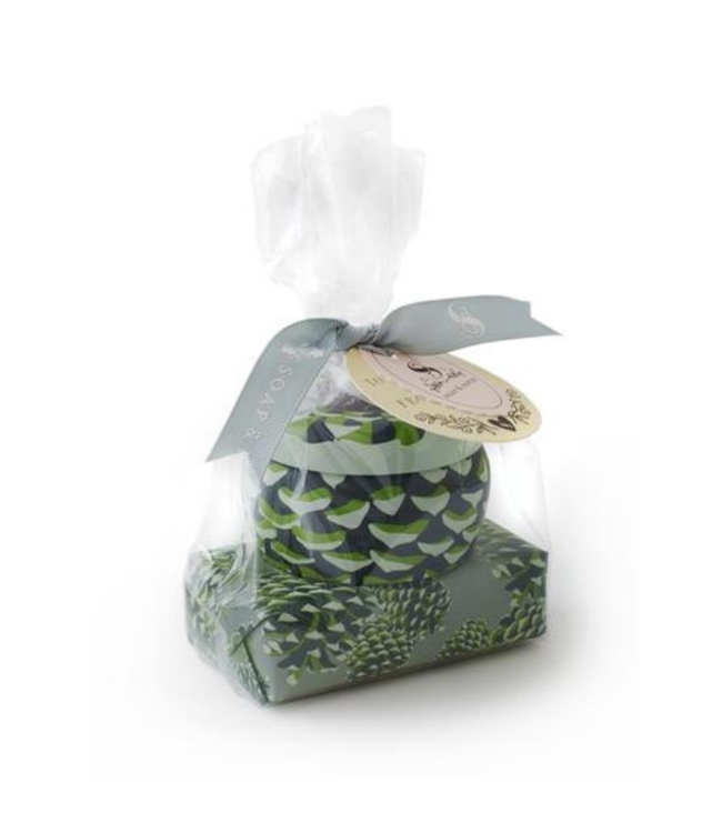 Soap & Paper Factory Roland Pine Tin Candle & Soap Gift Set