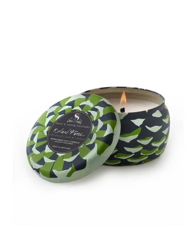 Soap & Paper Factory Roland Pine Small Tin Soy Candle