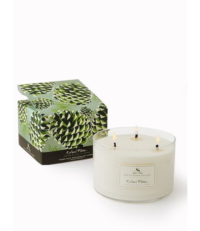 Soap & Paper Factory Roland Pine Triple-Wick Candle