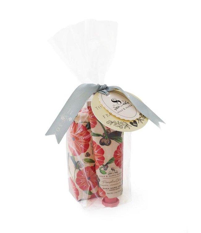 Soap & Paper Factory Pumpkin Chiffon Shea Butter Gift Set