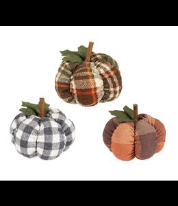 Evergreen Plush Pumpkins Table Décor