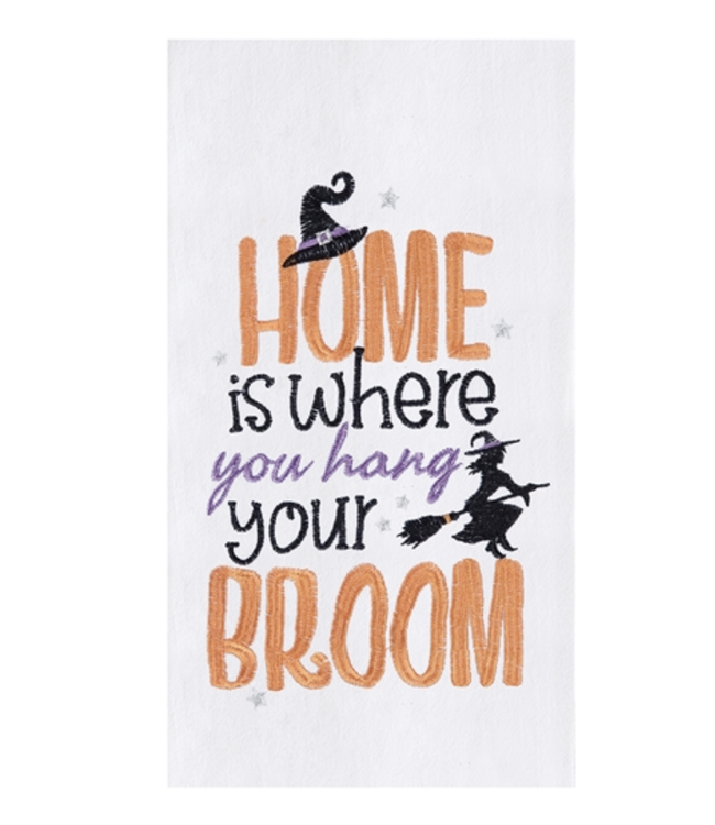 C&F Home Hang Your Broom Towel