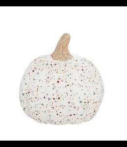 Evergreen Small  Printed Ceramic Pumpkin, Autumn Blooms