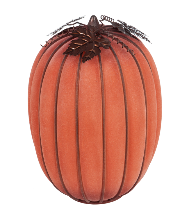 Evergreen LED Battery Operated Glass Pumpkin Large