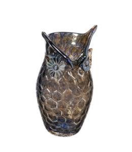 Evergreen Small Amber Glass Owl