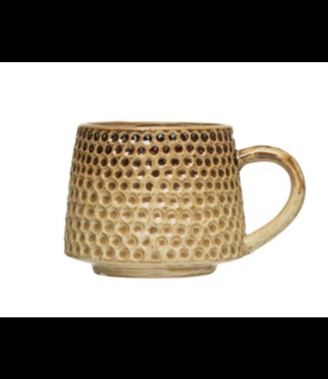 Creative Co-Op Debossed Mug, Reactive Glaze