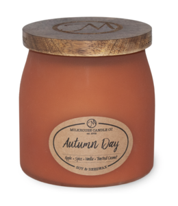 Milkhouse Candle Company Frosted Butter Jar 16 Oz: Autumn Day