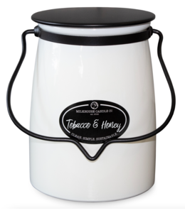 Milkhouse Candle Company Butter Jar 22 Oz: Tobacco & Honey
