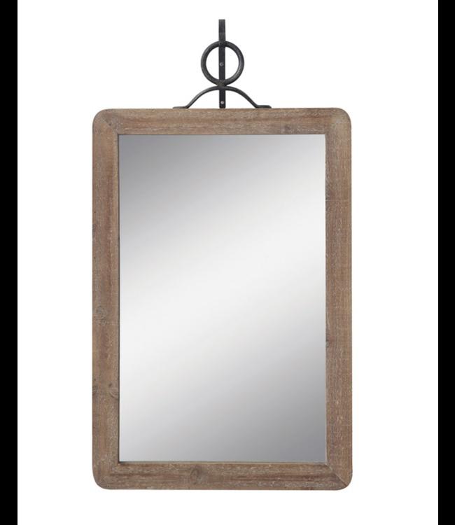 Creative Co-Op Wood Framed Wall Mirror w/ Metal Bracket