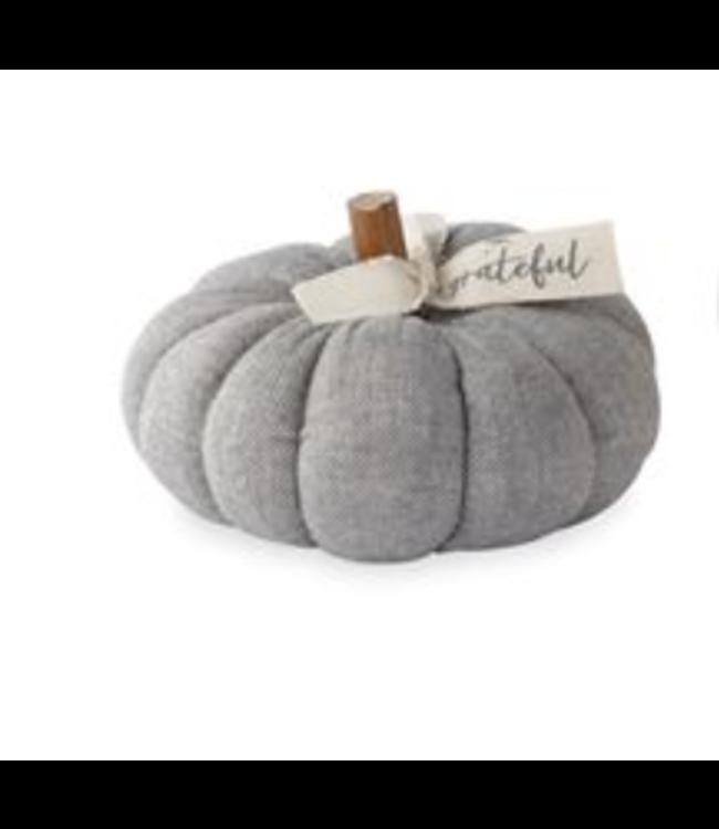 MudPie Small Grey Cotton Pumpkin
