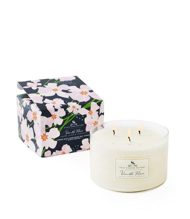 Soap & Paper Factory Vanilla Fleur Triple-Wick Candle