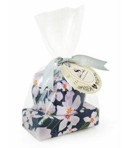 Soap & Paper Factory Vanilla Fleur Tin Candle & Soap Set