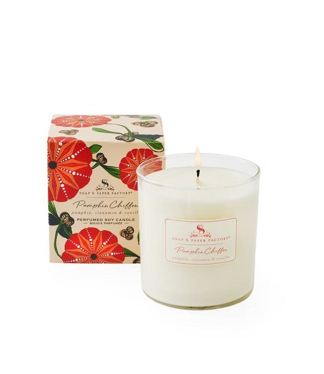 Soap & Paper Factory Pumpkin Chiffon Large Soy Candle