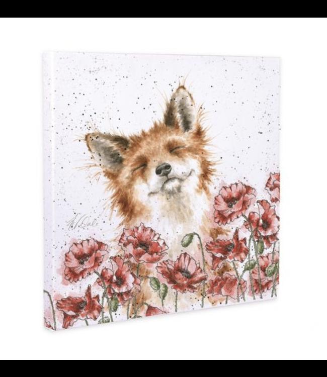 Wrendale Designs Poppy Field Canvas Print