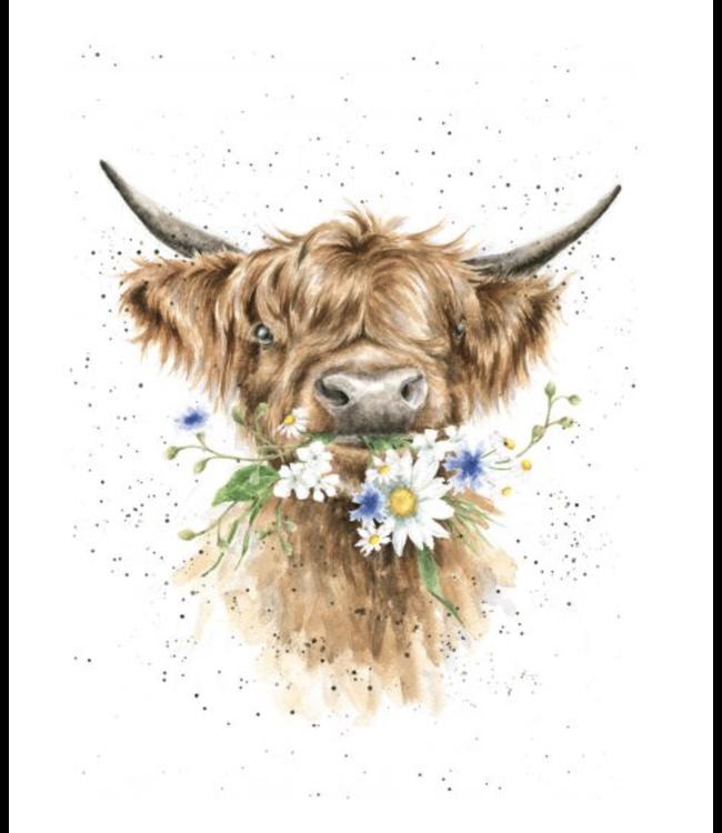 Wrendale Designs Daisy Cow Card