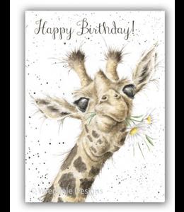 Wrendale Designs Giraffe Birthday Card