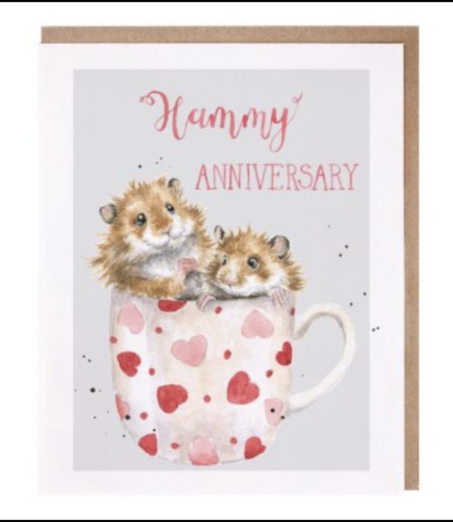 Wrendale Designs Hammy Anniversary Card