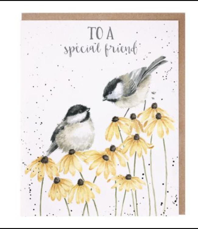 Wrendale Designs Let Friendship Bloom Card