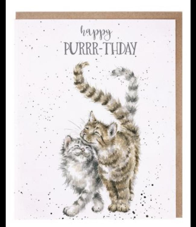 Wrendale Designs Happy Purrr-thday Card