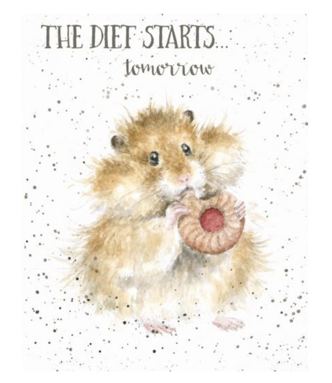 Wrendale Designs The Diet Starts Tomorrow Card