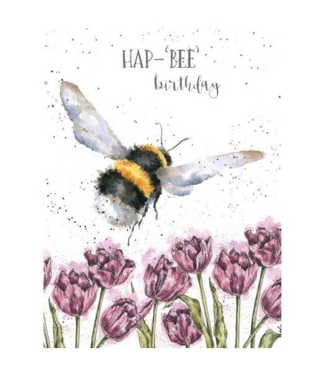 Wrendale Designs Hap-Bee Birthday Card