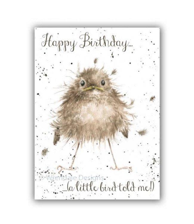 Wrendale Designs Little Wren Birthday Card