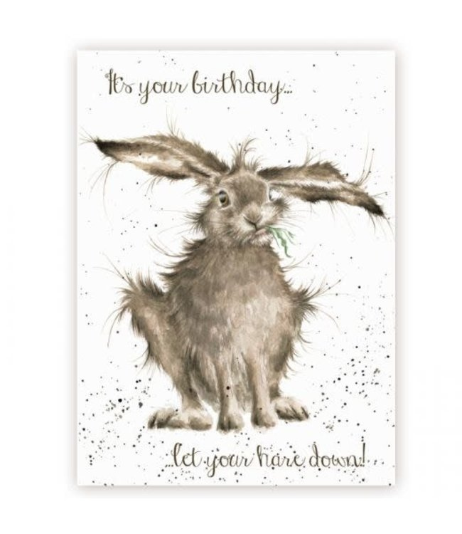Wrendale Designs Let Your Hare Down Birthday Card