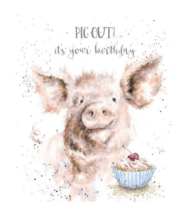 Wrendale Designs Pig Out Birthday