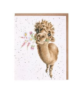 Wrendale Designs Hand-Picked for You Alpaca Card