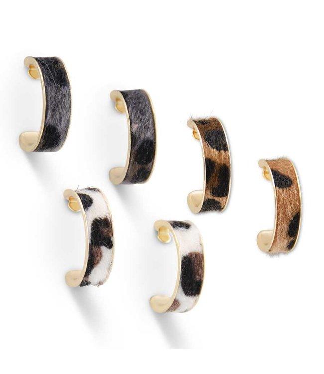 K&K Interiors Classic Leopard Hoop Earrings